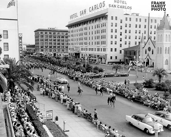 1955 Fiesta Parade on Palafox