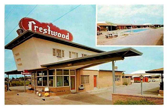 Crestwood Motor Hotel _ Photo Post Card _ OK_SFW